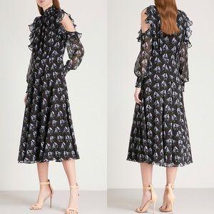 NEW Ted Baker 2 Hilaina Love Birds Chiffon Dress